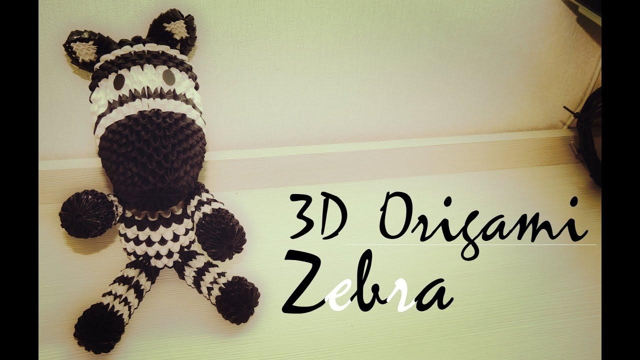 how to 3d origami zebra tutorial part 1 youtube