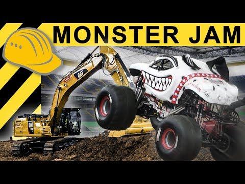 Baggern für die Monster Trucks - Monster JAM 2018 Behind the Scenes!