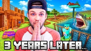 RETURNING TO MY *SECOND* MINECRAFT WORLD... Ali-A's Quest! 😱