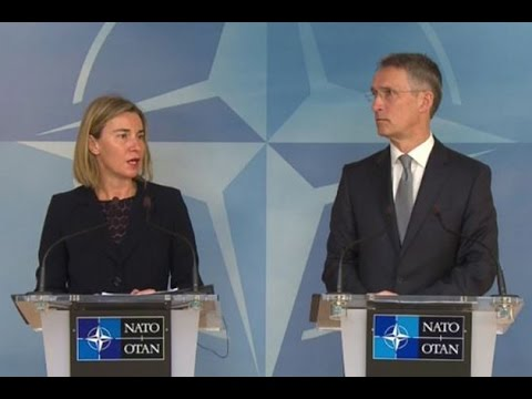 Joint doorstep by Jens STOLTENBERG, NATO Secretary General and Federica MOGHERINI