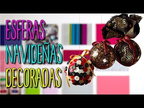 Esferas Navideñas De Unicel Manualidades De Navidad Diy