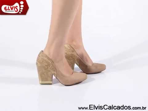 9a2a460ea7 Sapato Feminino Dakota B7142 Natural - YouTube