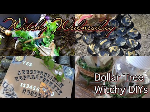 🌙Witchy Wednesday🌙 #DollarTree Witchy Haul AND DIYs!!!