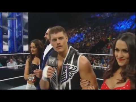 Team Rhodes Scholars (With Brie and Nikki Bella) Vs Brodus Clay and Tensi