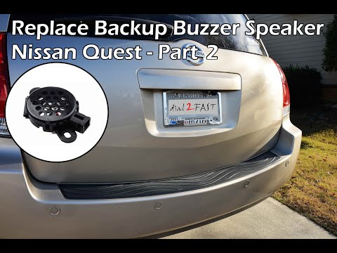 Nissan Reverse Backup Sensor Replace Buzzer (Quest 2004 - 2009) - PART 2