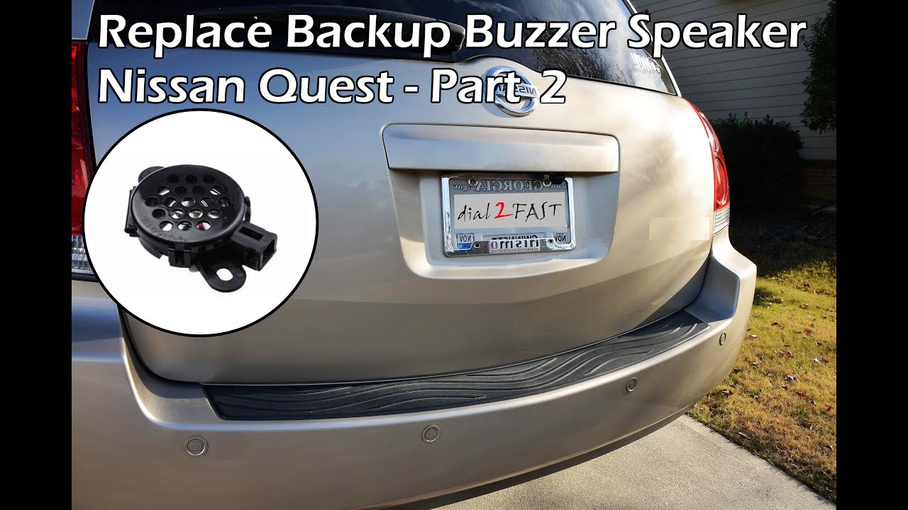 fix nissan reverse sensor buzzer (quest 2004 - 2009) - part 2