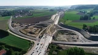 Luftaufnahmen Autobahn A94 Isentalbrücke / Lappachbrücke Mai 2018