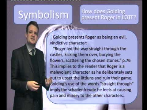 how does golding present roger in Roger is a socio-path the fine line between the thin rules of civilization and reckless abandon of nameless authority quickly vanishes for this boy rodger walks past jack slightly missing pushing his shoulder on purpose if roger were to strike out at jack, jack's tenure as chief would be over.
