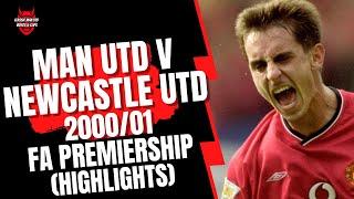 Man Utd v Newcastle Utd - Match Highlights Aug 2000