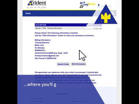 Trident Insurance - Online Quote (Step By Step)