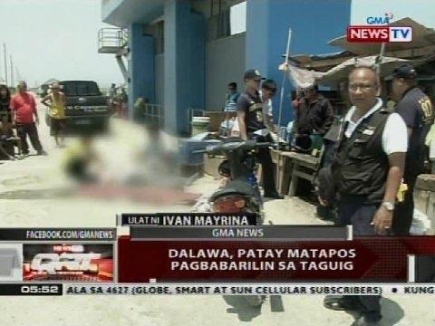 QRT: Dalawa, patay matapos pagbabarilin sa Taguig