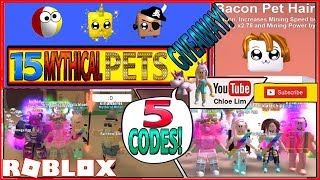 ✨[TRAILS] Roblox Mining Simulator! 5 CODES & 15 Mythical Pets GIVEAWAY! LOUD WARNING!