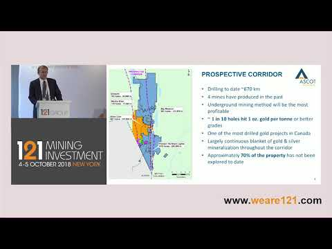 Presentation: Ascot Resources - 121 Mining Investment New York October 2018
