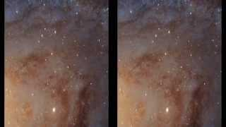 Hubble's New View of Andromeda Galaxy | Cross Eye 3D Video