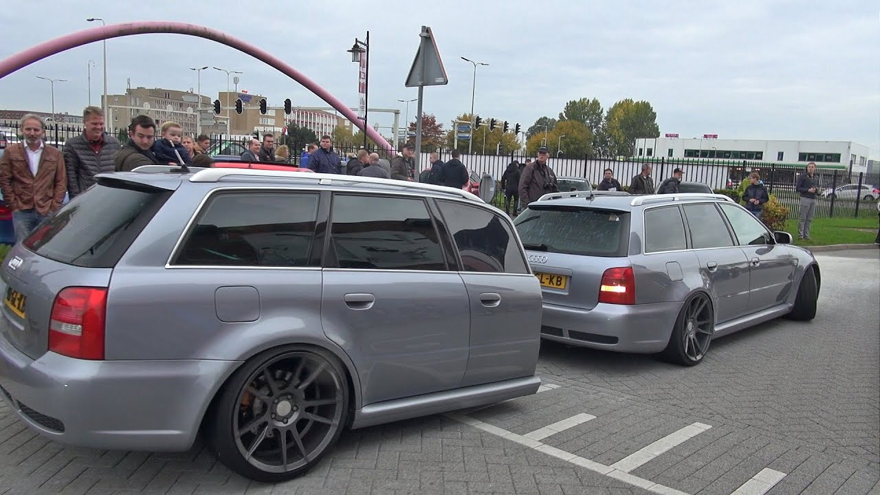 Audi Rs4 Avant B5 With Rs4 Car Trailer Youtube