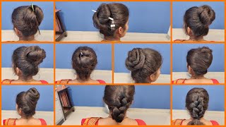EP 37 | 10 Different Hairstyles | Bun Hairstyle | Hairstyle Tutorial