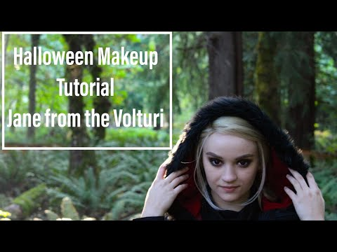 Twilight Vampire Volturi Jane Makeup Tutorial for Halloween thumbnail