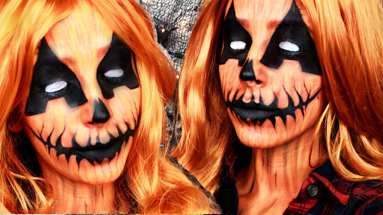 Pumpkin Queen Halloween Makeup Tutorial - YouTube