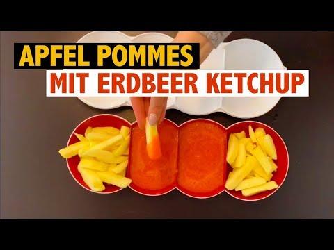 Apfel Pommes Mit Erdbeer Ketchup Mit Dem Tupperware Profi-Chef Schneidwerk 15