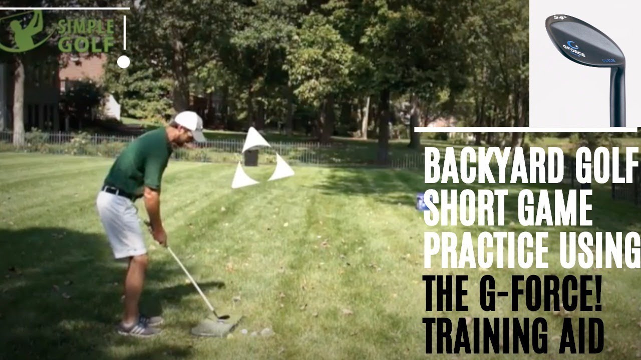 golf backyard practice game and stop chipping yips with the g