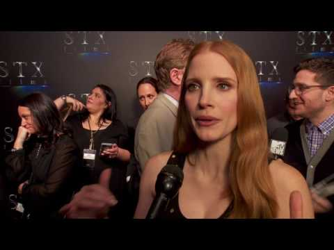 """Molly's Game: Jessica Chastain """"Molly Bloom"""" CinemaCon Interivew"""