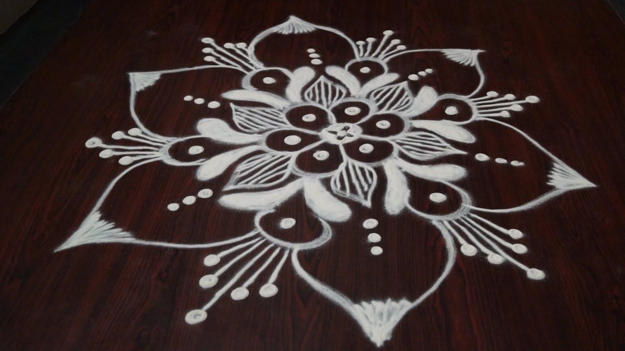 daily rangoli designs without dots design muggulu