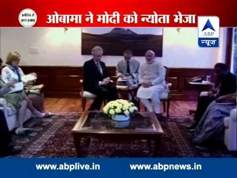Obama formally invites Modi to USA, Modi accepts