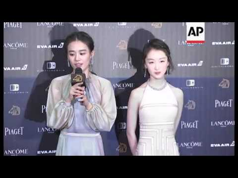 Winners react backstage at Golden Horse Awards