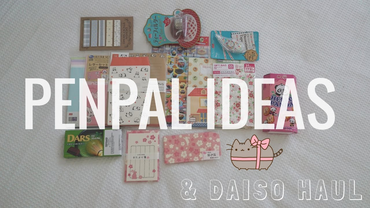 Penpal Snail Mail Ideas + Daiso Stationery Haul & Giveaway