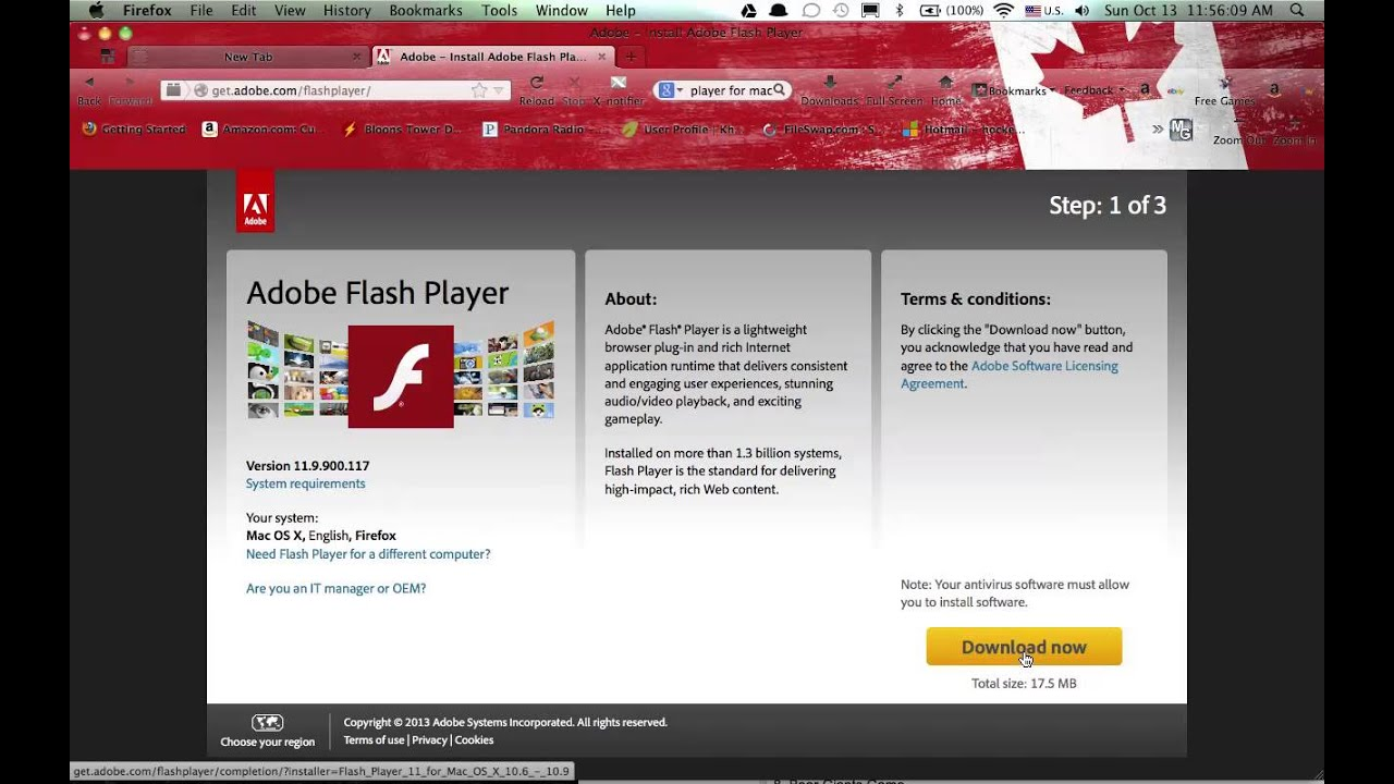 adobe flash 13 download