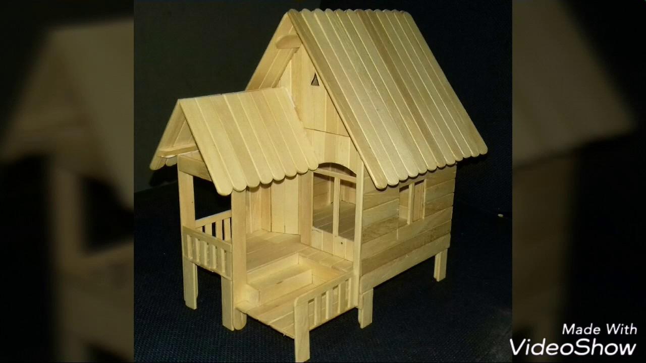 Cara Membuat Miniatur Rumah Pondok Dari Stik Es Krim