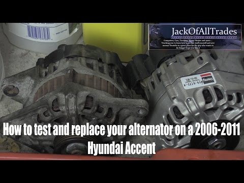 Hyundai OEM Alternator Testing And Replacement