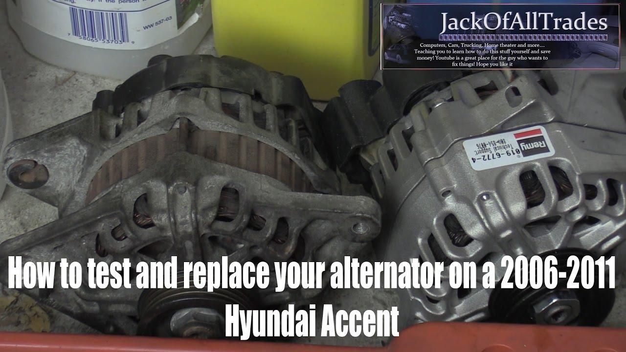Hyundai Sonata Starter Wiring Diagram Hyundai Oem Alternator Testing And Replacement Youtube