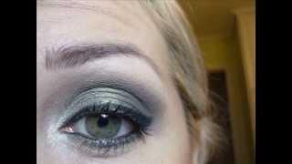 Mac green and grey eyeshadow tutorial