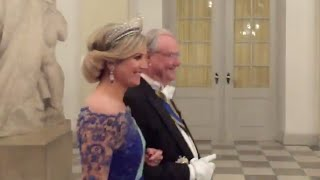 State Dinner for TM the King and Queen of the Netherlands at Christiansborg, Copenhagen, Denmark.