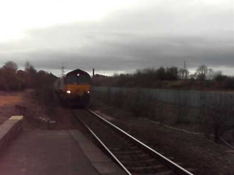 DBS 66 at Normanton with 2 tone horn to  Wakefield Europort