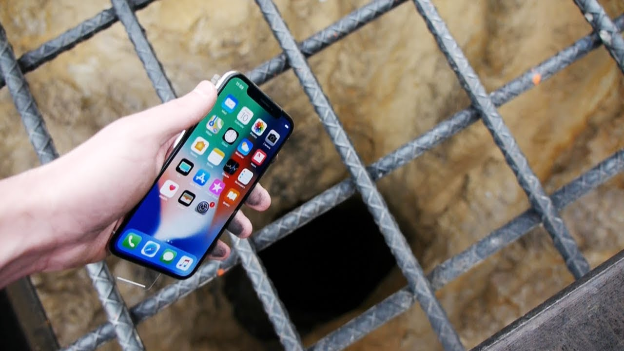 Download Dropping an iPhone X Down 4000 FT Deep Hole! - What's In There?