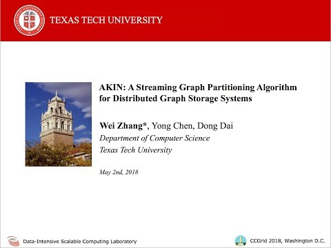 AKIN: A Streaming Graph Partitioning Algorithm for Distributed Graph Storage Systems