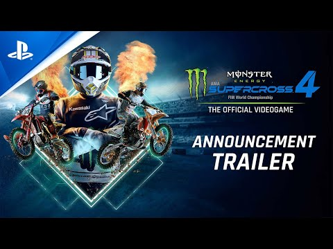 Monster Energy Supercross - The Official Videogame 4 - Announcement Trailer | PS5, PS4