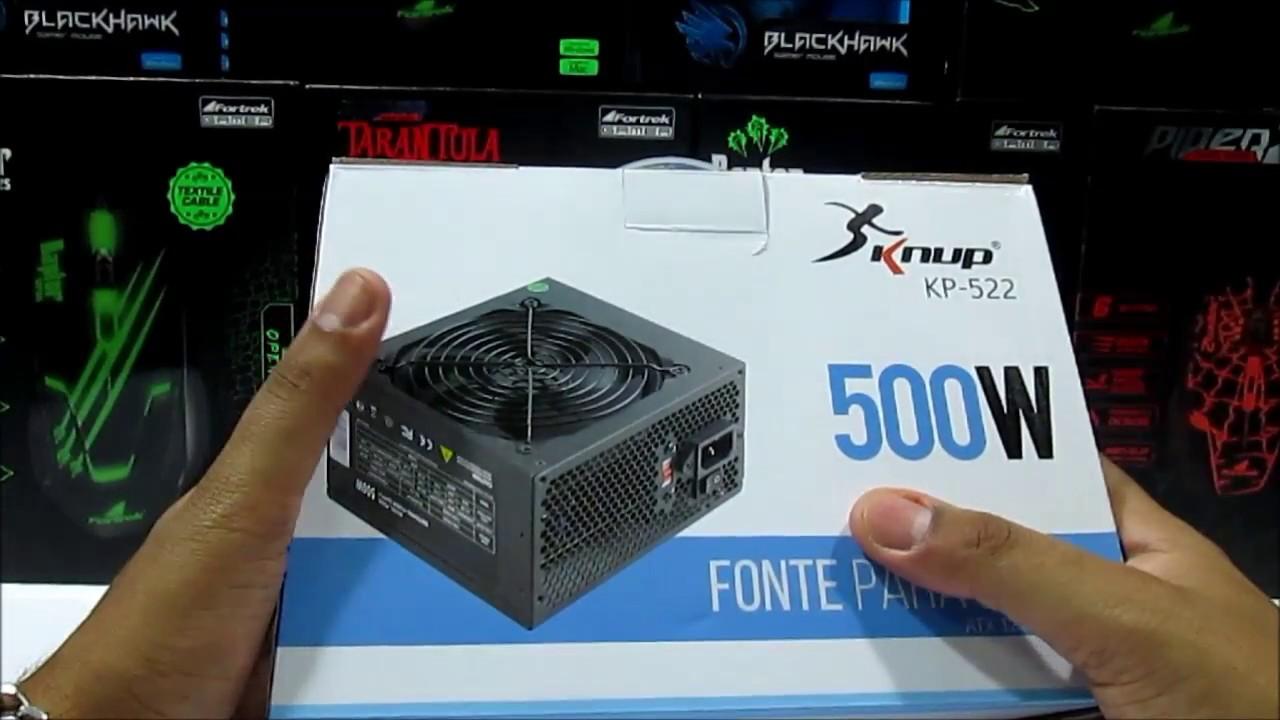 Resultado de imagem para Fonte Atx 500w Knup