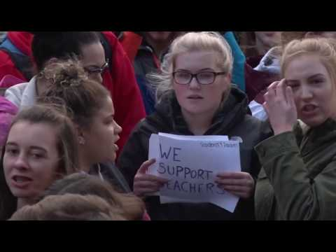 Citadel High School Students Walk Out in Support of Teachers