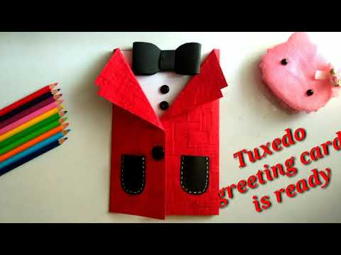 DIY Stunning Tuxedo Greeting Card for Teacher's Day | Father's Day | Valentine Day | Birthday Card