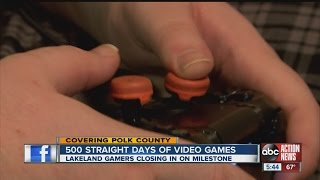 Video gamers nearing 500 days of 24/7 game playing