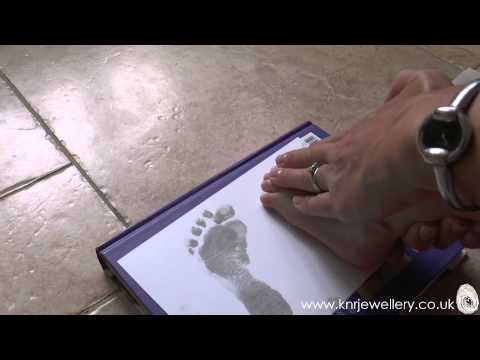 How to take Inkless prints of hands, feet or paws for silver jewellery charms - KNR Jewellery