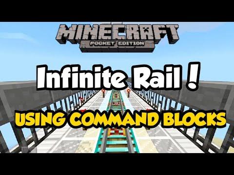 Minecraft PE - INFINITE RAIL using COMMAND BLOCKS