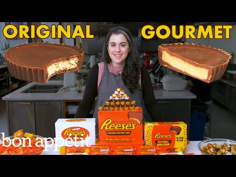 Pastry Chef Attempts to Make Gourmet Reese's Peanut Butter Cups | Gourmet Makes | Bon Apptit