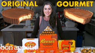 Download Pastry Chef Attempts to Make Gourmet Reese's Peanut Butter Cups | Gourmet Makes | Bon Appétit Mp3 and Videos