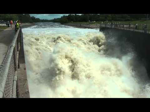 Army Corp Of Engineers Releases Flood Water At Saylorville Des Moines, River