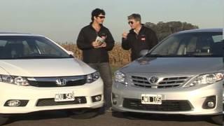 Honda Civic EXS / Toyota Corolla SEG - Comparativo caja manual - Matías Antico, Martín Sacán