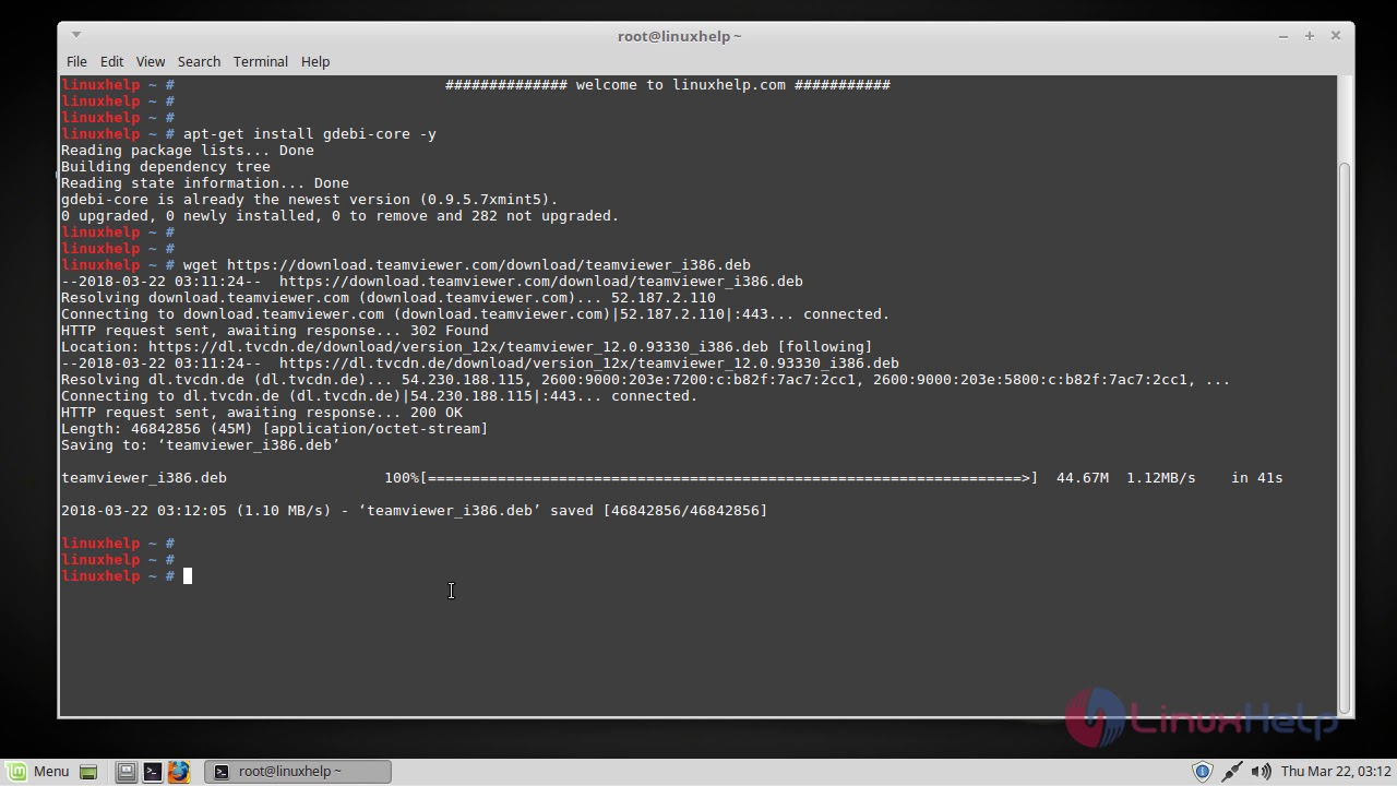 How to install Teamviewer on Linux Mint 18 3